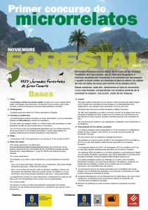 cartel concurso microrrelatos noviembre forestal 2017